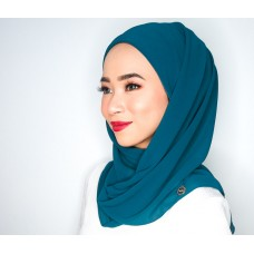 CALI Semi Instant Shawl with Inner (Chiffon - Teal)