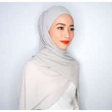 Camellia Semi Instant Shawl with attached Inner (Chiffon - Heather grey)
