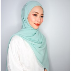 Camellia Semi Instant Shawl with attached Inner (Chiffon - Mint)