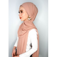 Camellia Semi Instant Shawl with attached Inner (Chiffon - Mocha Frappe)