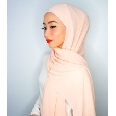 Camellia Semi Instant Shawl with attached Inner (Chiffon - Peaches & Creme)