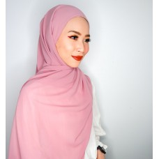 Camellia Semi Instant Shawl with attached Inner (Chiffon - Mademoiselle pink)