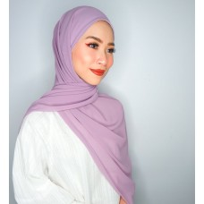 Camellia Semi Instant Shawl with attached Inner (Chiffon - Lavender)