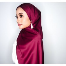Camellia Semi Instant Shawl attached Inner (Satin silk - Blackcurrant