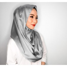 Instant Shawl Embellished (Satin Silk Series) : Smoke Grey