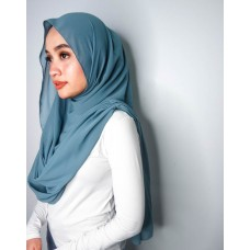 Instant Shawl Embellished (Casual Series) : Stillwater blue
