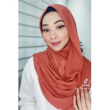 Instant Shawl Embellished (Casual Series) : Brick