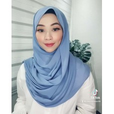 Instant Shawl Embellished (Casual Series) : Periwinkle
