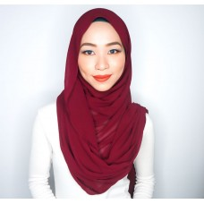 Instant Shawl Embellished (Casual Series) : Apple Spice Red