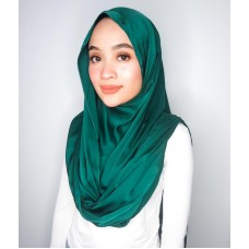 Instant Shawl Embellished (Satin Silk Series) : Emerald green