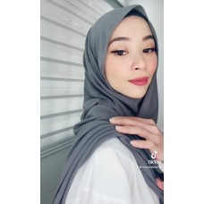 Instant Shawl Embellished (Casual Series) : Smoke gray