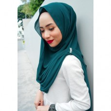 Instant Shawl Embellished (Crystal Series) : Atlantis Teal