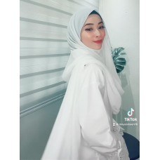 Instant Shawl Embellished (Casual Series) : White