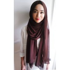 Instant shawl Luxe V1 (Chocolate)