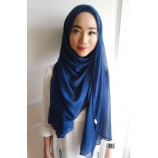 Instant shawl Luxe V1 (Sapphire Blue)