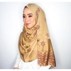 Instant shawl Rania (Songket series: Asmaa in Gold)