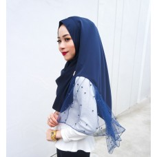 Instant shawl Rania (Pearl series: Navy Blue)