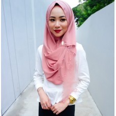 Instant shawl Rania (Pearl series: Strawberry Sorbet)