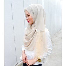 Instant shawl Rania (Pearl series: Oatmeal)