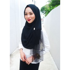 Instant shawl Rania (Dimple Dot series: Black)