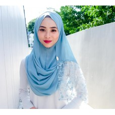 Instant shawl Rania (Lace floral series: Blue Lagoon)