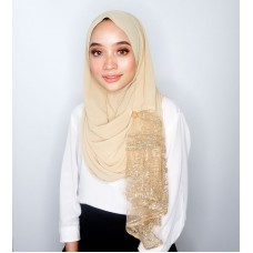 Instant shawl Rania (Glitz series: Gold Sun kissed)