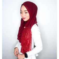 Instant shawl Rania (Glitz series: Red)