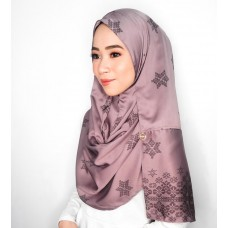 Instant shawl Rania (Songket series: Asmaa in Mauve)