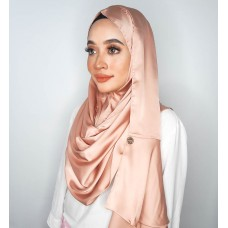 Instant shawl Rania Satin Silk series (Rose Gold)