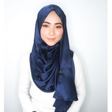 Instant shawl Rania Satin Silk series (Navy Blue)