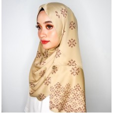 Instant shawl Rania (Songket series: Asmaa in Latte)