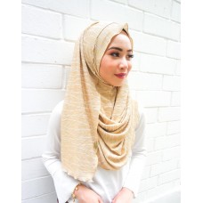 Instant shawl 1.0 (Pleated series: Metallic Gold & White)