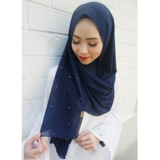 Instant shawl 1.0 (Pearl series: Navy Blue)