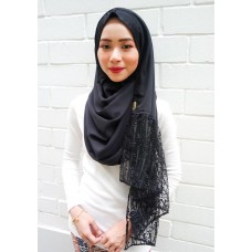 Instant shawl Rania (Glitz series: Raindrops in Black)