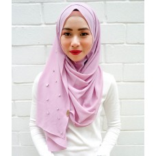 Instant shawl 1.0 (Crystal beaded series: Lilac)