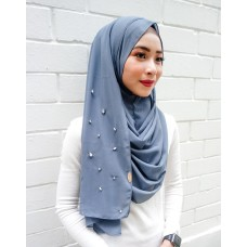 Instant shawl 1.0 (Crystal Beaded series: Smokey Blue )