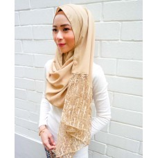 Instant shawl Rania (Glitz series: Raindrops in Gold)