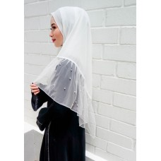 Instant Shawl Rania (Pearl Series: White)
