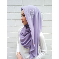 Instant shawl Luxe V2 (Crystal series: Purple Iris)