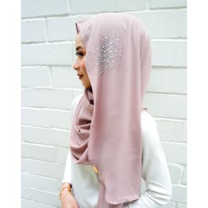Instant shawl Luxe V2 (Crystal series: Rose Mauve)