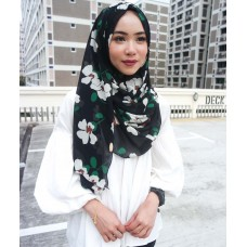 Instant shawl 1.0 (Printed series: Faye - Black)