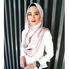 Instant Shawl Embellished (Lush Satin Series) : Frappucino