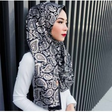 Instant shawl 1.0 (Metallic Foil series: Black & Silver)