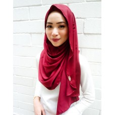 Instant shawl Luxe V2 (Lush Satin series) : Maroon