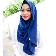 Instant shawl Luxe V2 (Lush Satin series) : Dark Royal Blue