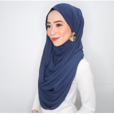 Snood (Satin silk: Navy Blue)