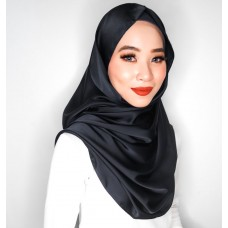 Snood (Satin silk: Black)