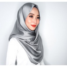 Snood (Satin silk: Smoke Grey)
