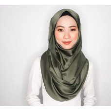 Snood (Satin Silk: Burnt Olive)