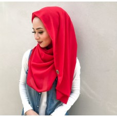 Instant Shawl Luxe V2 Chiffon (Cherry Red)